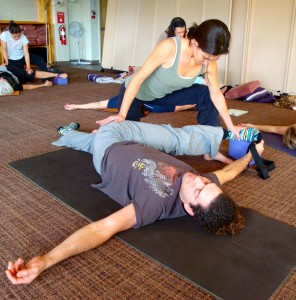 March 3 ~ Partner Stretching and Shiatsu Massage, Laughing Dog Yoga, Wellesley, MA