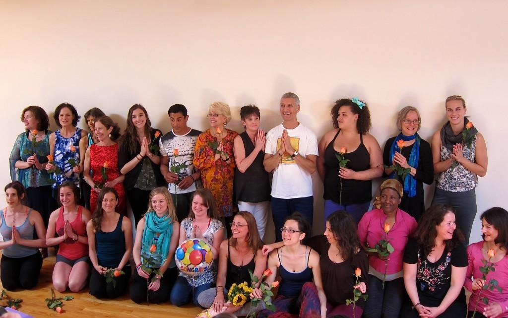 Yoga Teacher Training Graduates Boston Graduating Class June, 2014   Arlington, MA