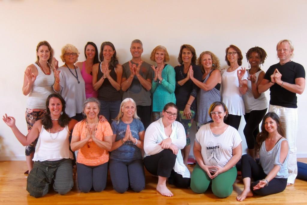 Yoga Teacher Training Graduates Boston 500-Hour Class Arlington, MA  August, 2015